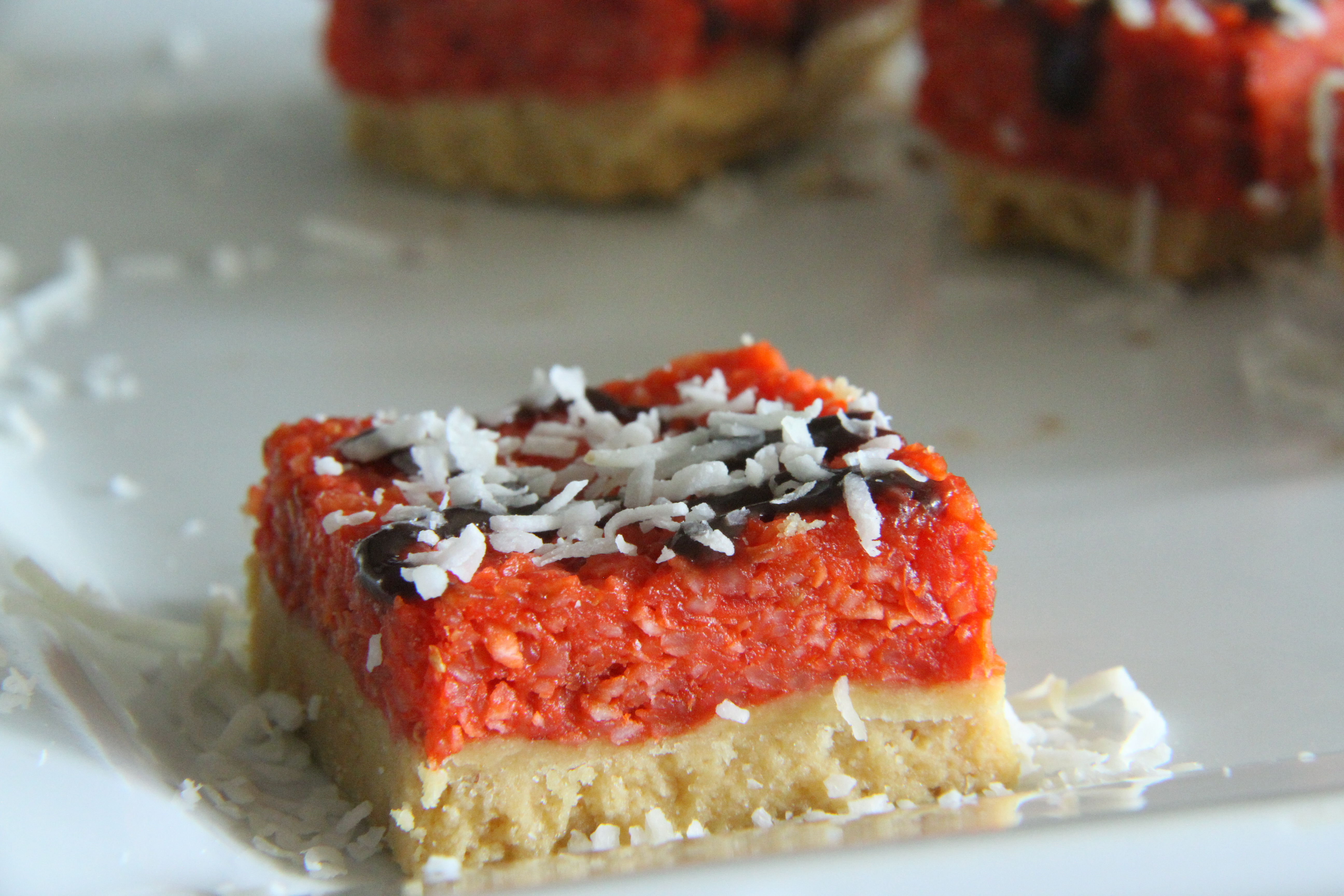 Cherry & Coconut Slice – Gluten and Dairy free recipes