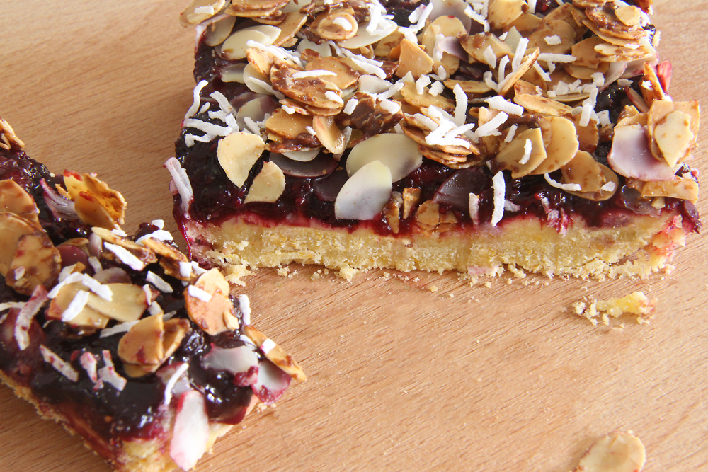 Gluten and Dairy Free Berry Almond Slice