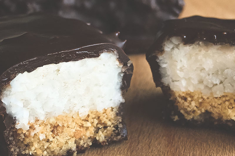 Gluten free snack recipe image - Coconut Bar