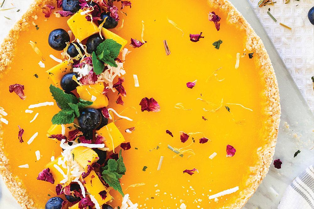 Mango Jelly Gluten Free Vegan Cheesecake